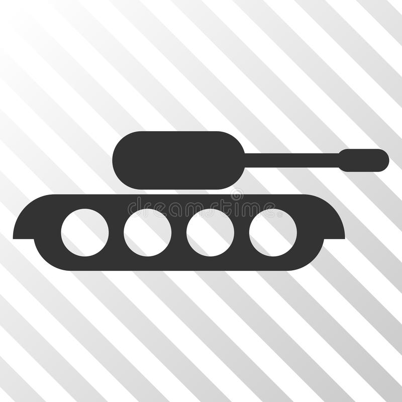 Ícone militar do EPS do vetor do tanque ilustração royalty free