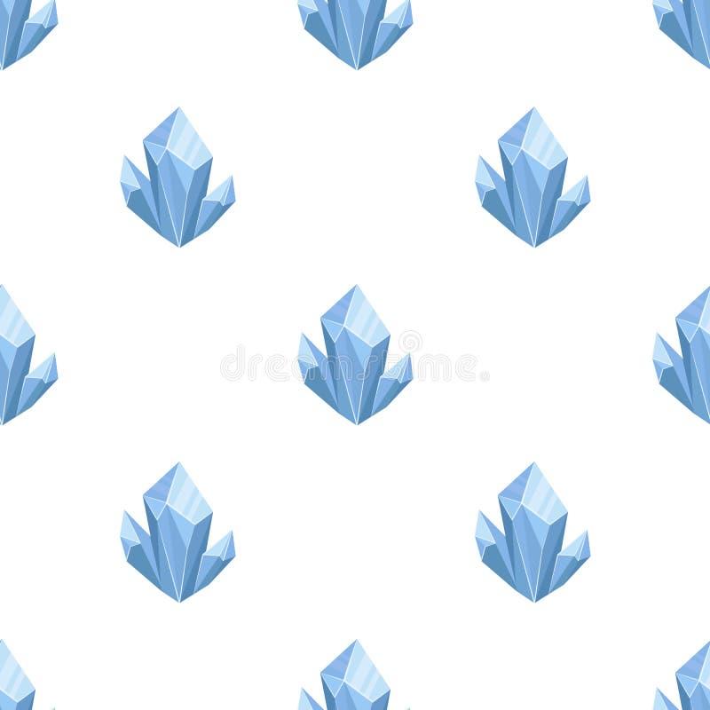 Ícone mineral natural azul no estilo dos desenhos animados isolado no fundo branco ilustração royalty free