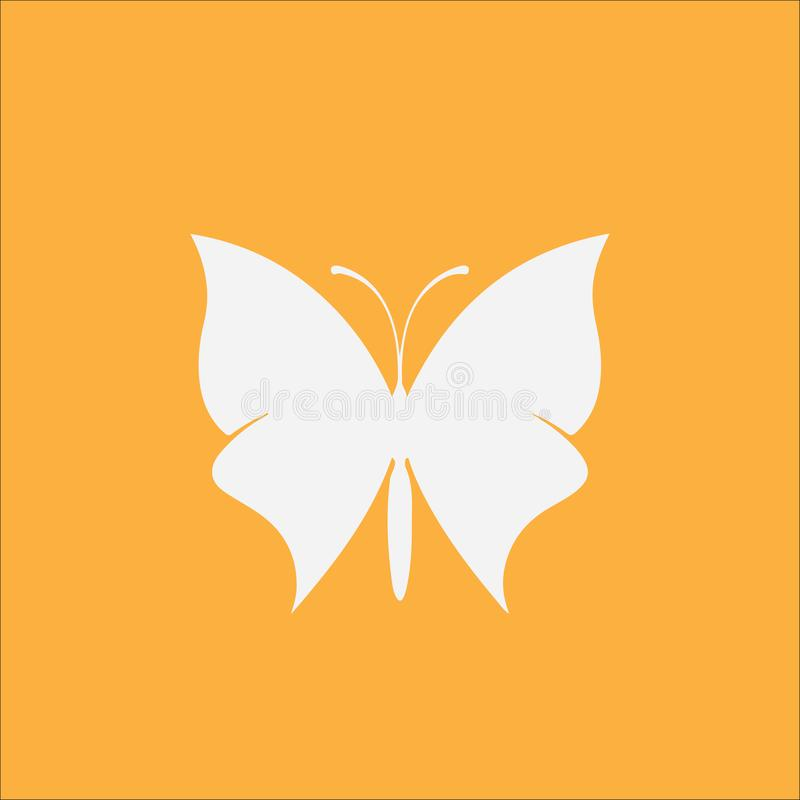 Ícone minimalistic da borboleta ilustração stock