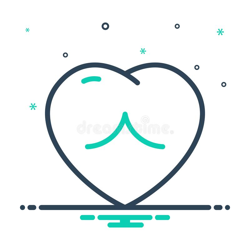 ícone mix para Coração, Amor e romance ilustração royalty free