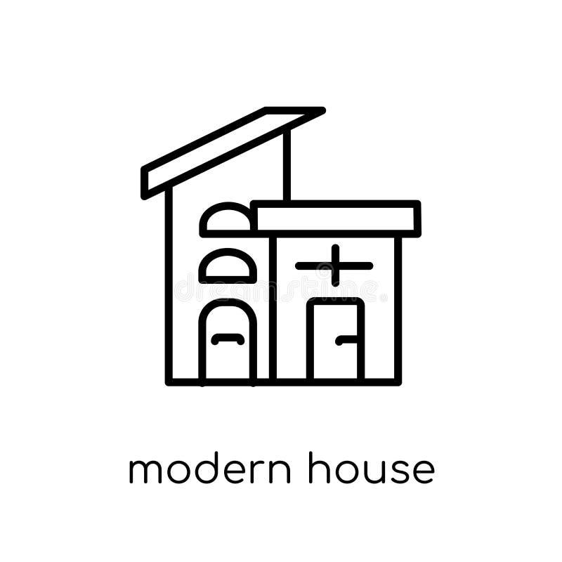 ícone moderno da casa da coleção dos bens imobiliários ilustração royalty free