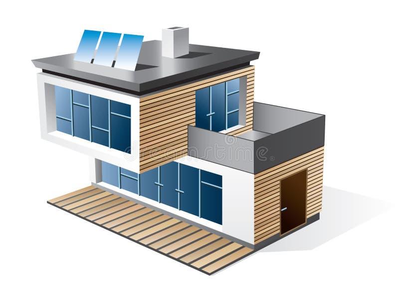 Ícone moderno da casa da família ilustração stock