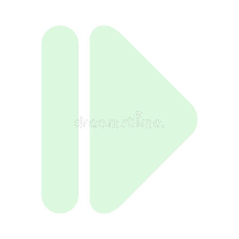 Ícone moderno direito da seta ilustração stock