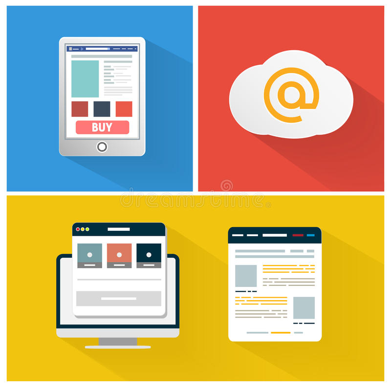Ícone moderno do app do conceito do negócio do navegador ilustração royalty free