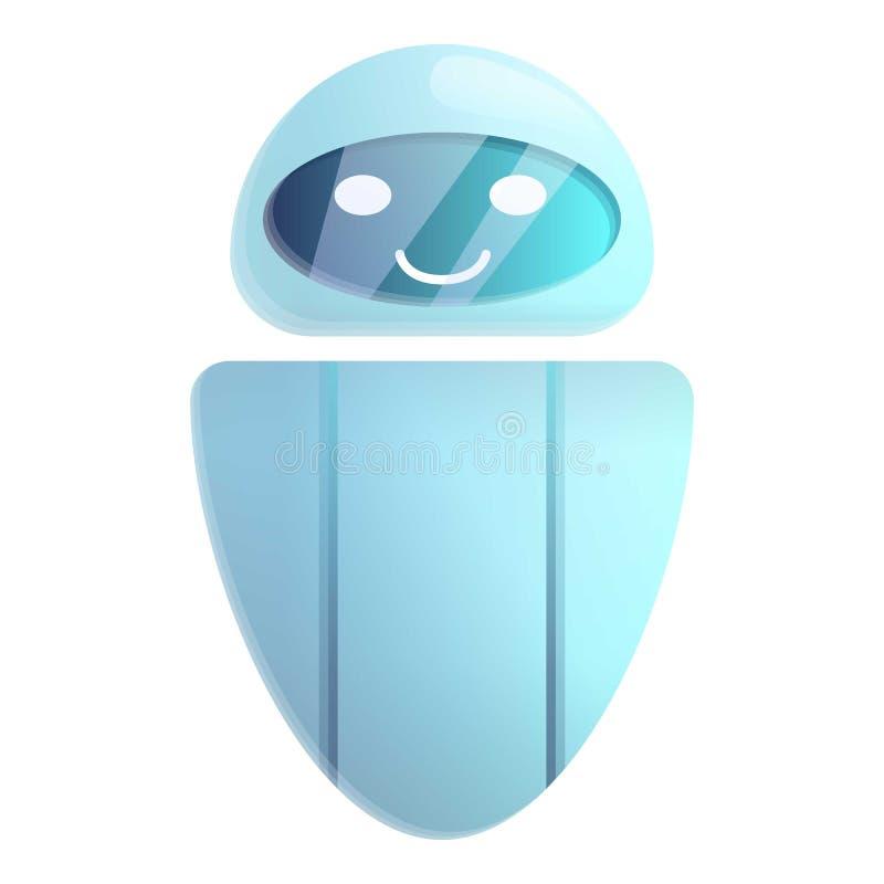 Ícone moderno do chatbot, estilo dos desenhos animados ilustração royalty free