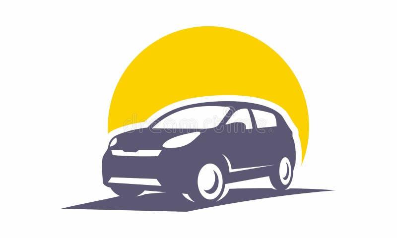 ícone moderno do logotipo da ilustração do vetor do carro da cidade fotografia de stock