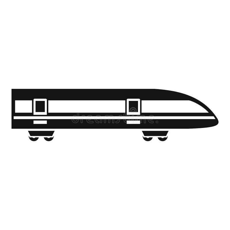 Ícone moderno do trem de alta velocidade, estilo simples ilustração royalty free