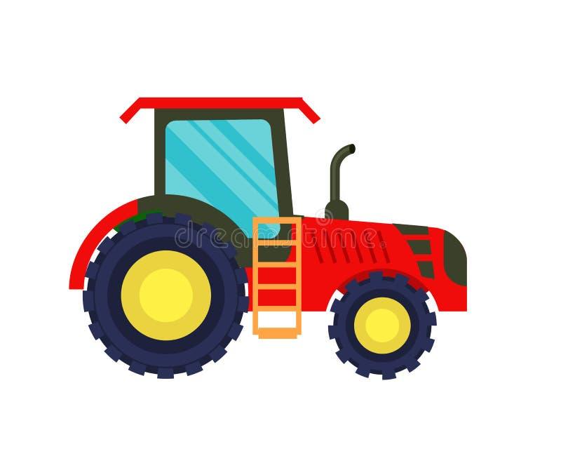 Ícone moderno do vetor do trator da agricultura ilustração royalty free
