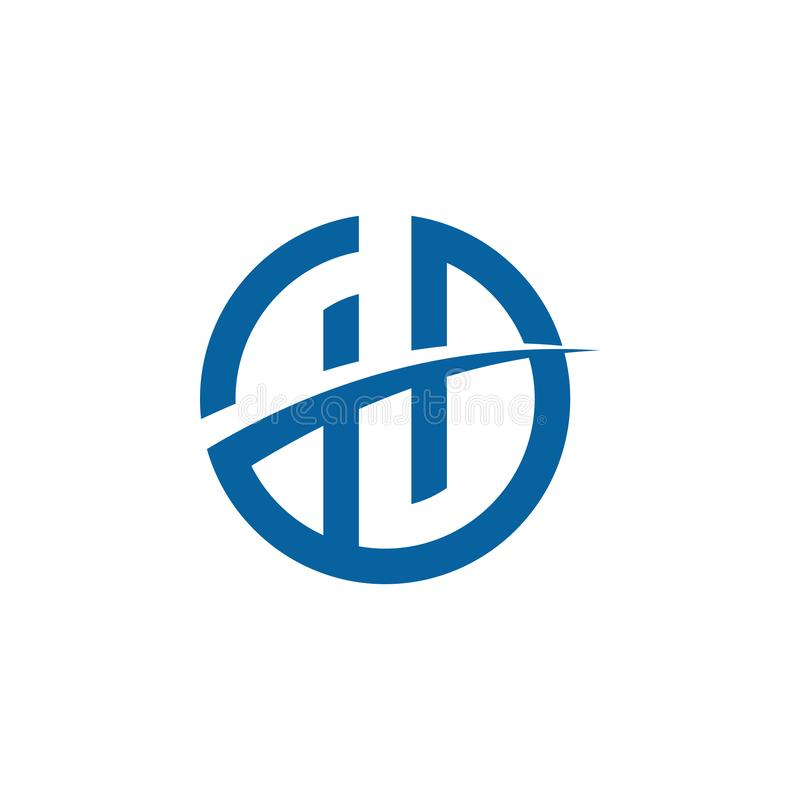 Ícone moderno original Logo Design do alfabeto H da letra para a empresa ilustração stock