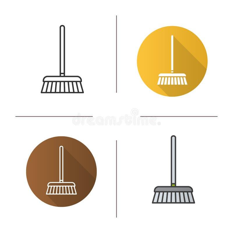 Ícone Mop ilustração stock