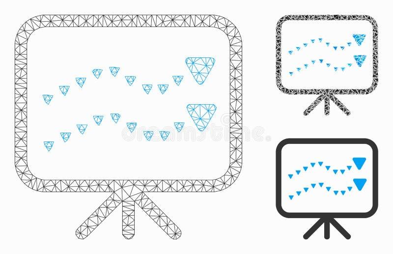 Ícone Mosaico Triângulo do Modelo 2D do Vetor de Placa de Tendências Pontilhadas ilustração do vetor