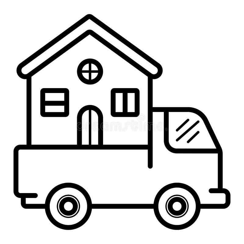 Ícone movente do vetor da casa ilustração stock