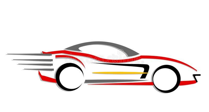 Ícone movente rápido do carro ilustração stock