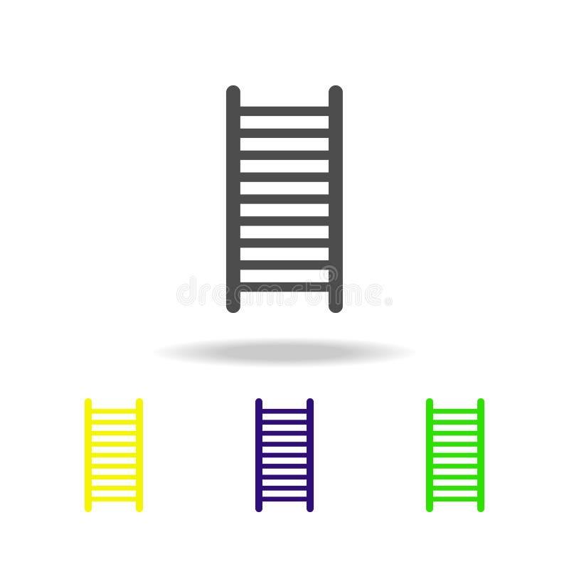 ícone multicolorido das escadas Elemento de ícones da Web Sinais e ícone para Web site, design web dos símbolos, app móvel na sag ilustração royalty free