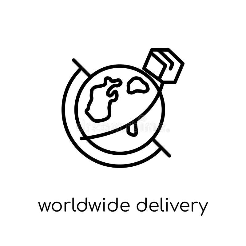 Ícone mundial da entrega  ilustração do vetor