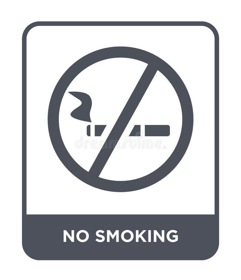ícone não fumadores no estilo na moda do projeto Ícone não fumadores isolado no fundo branco ícone não fumadores do vetor simples ilustração royalty free