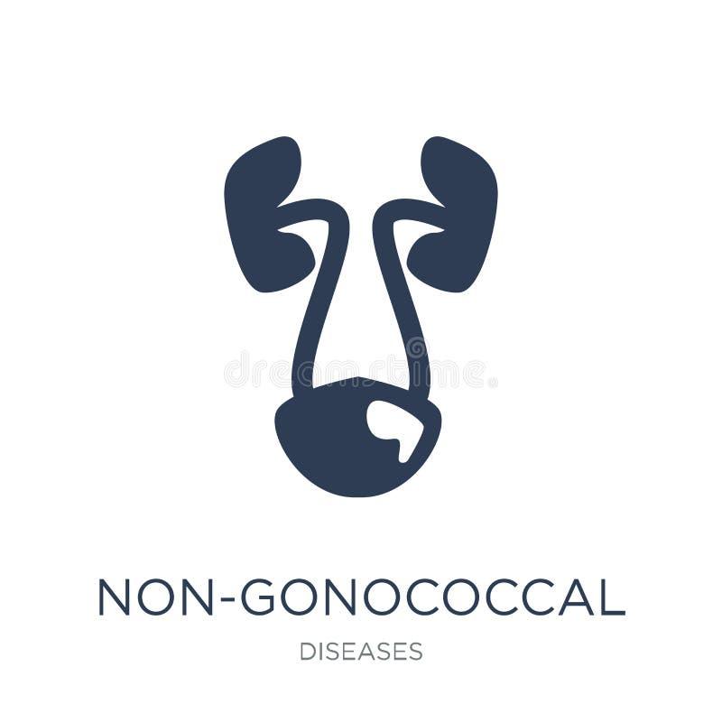 ícone Não-gonococcal do urethritis Vetor liso na moda Non-gonococca ilustração stock