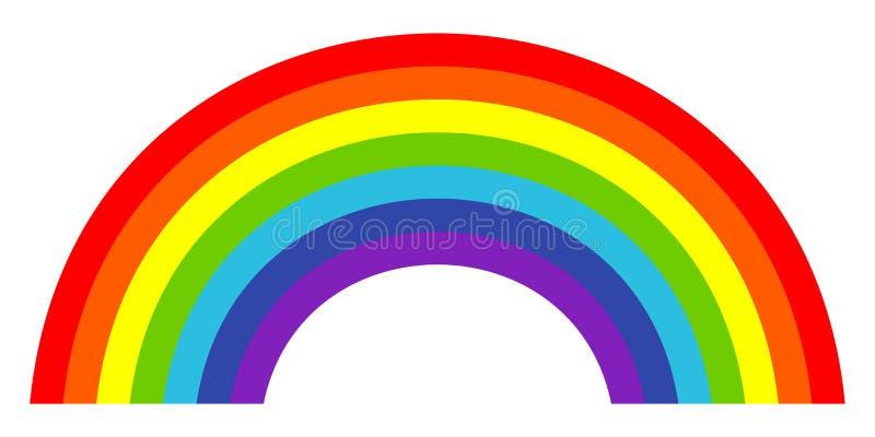 Ícone na moda colorido do arco-íris Ilustração do vetor ilustração stock