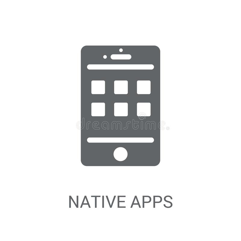 Ícone nativo dos apps  ilustração stock
