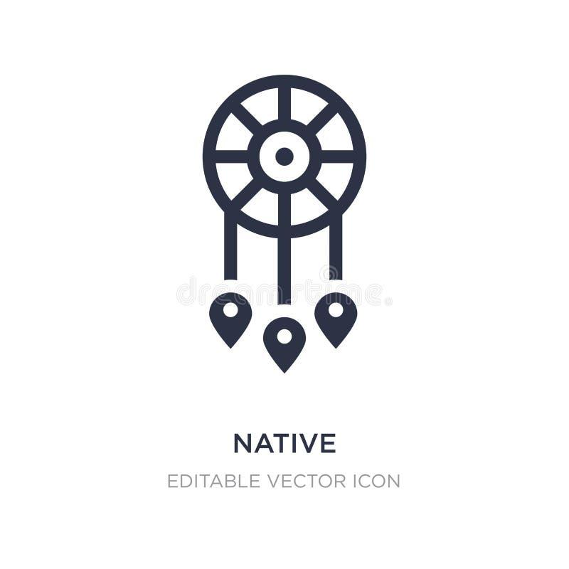 ícone nativo no fundo branco Ilustração simples do elemento do conceito das culturas ilustração stock