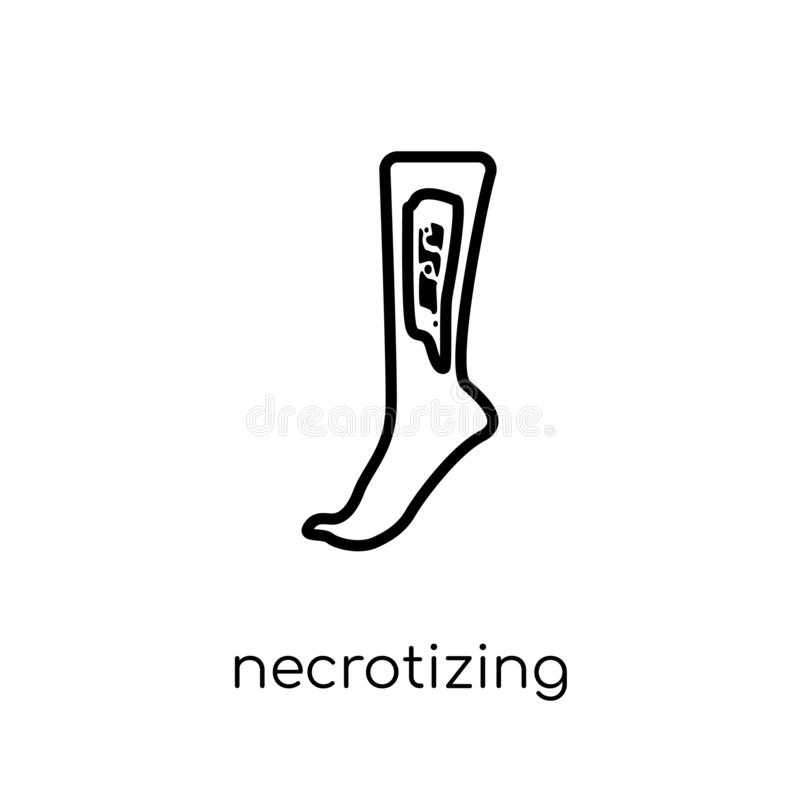 Ícone Necrotizing de Fasciitis  ilustração royalty free