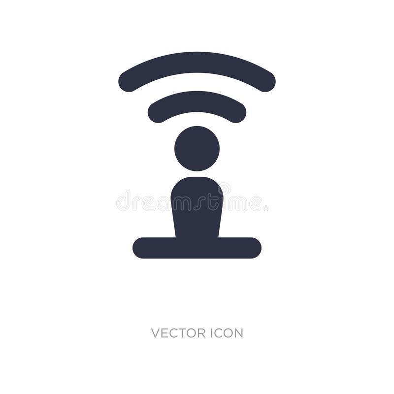 Ícone no fundo branco Ilustração simples do elemento do conceito de UI ilustração royalty free