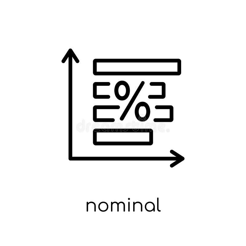 Ícone nominal da taxa de juro  ilustração royalty free
