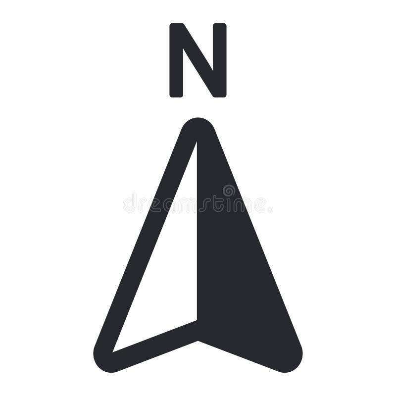 Ícone norte da seta Projeto do logotipo do mapa do navegador de GPS ilustração stock