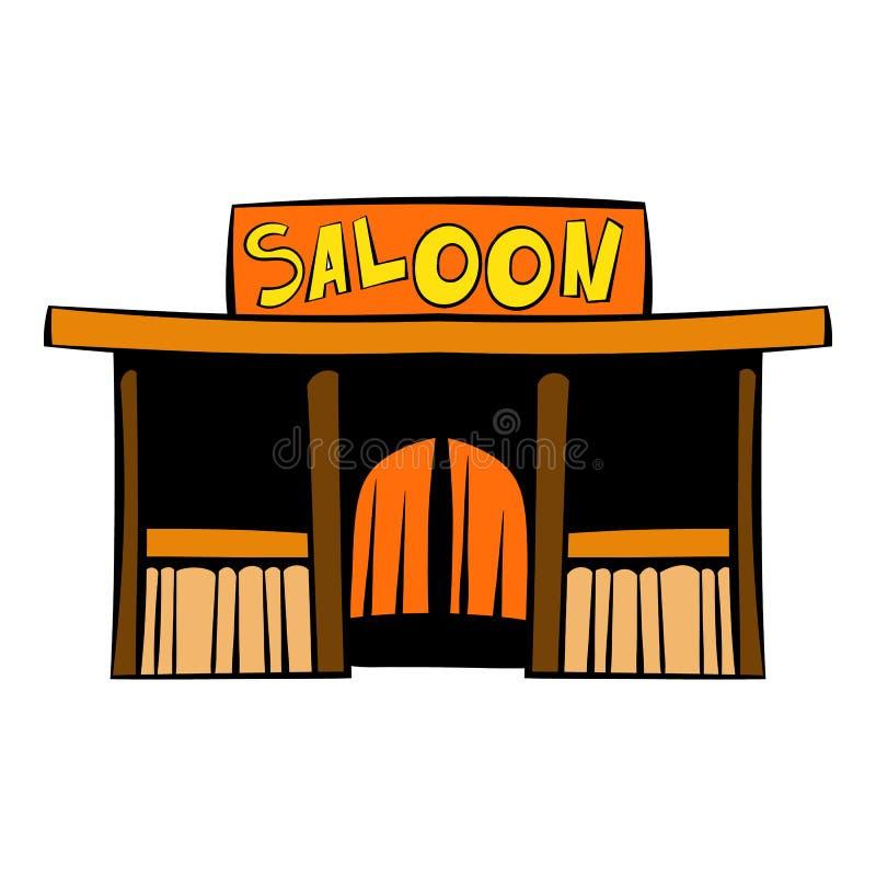 Ícone ocidental do bar, desenhos animados do ícone ilustração stock