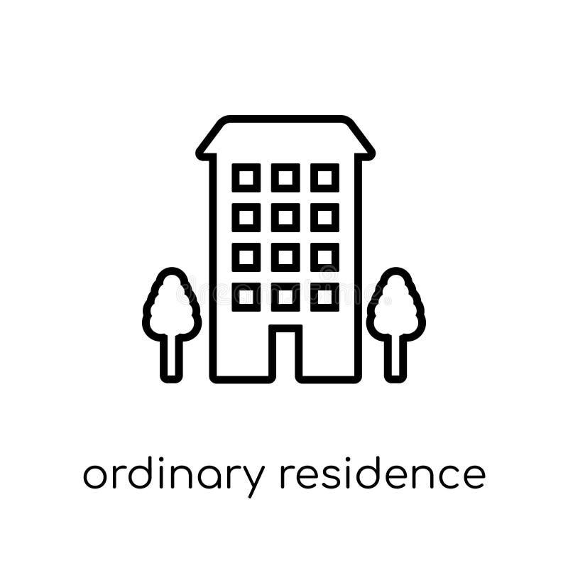 Ícone ordinário da residência  ilustração royalty free