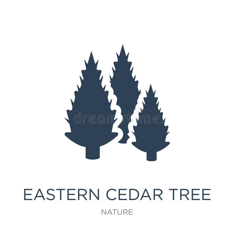 ícone oriental da árvore de cedro no estilo na moda do projeto ícone oriental da árvore de cedro isolado no fundo branco vetor or ilustração stock