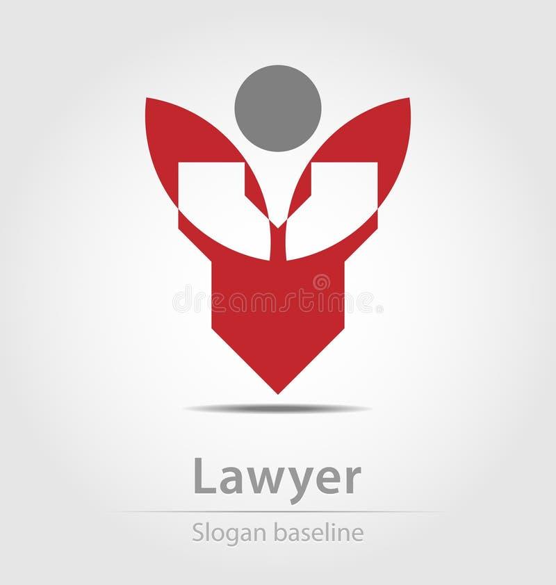 Ícone originalmente criado do negócio do vetor do advogado ilustração stock
