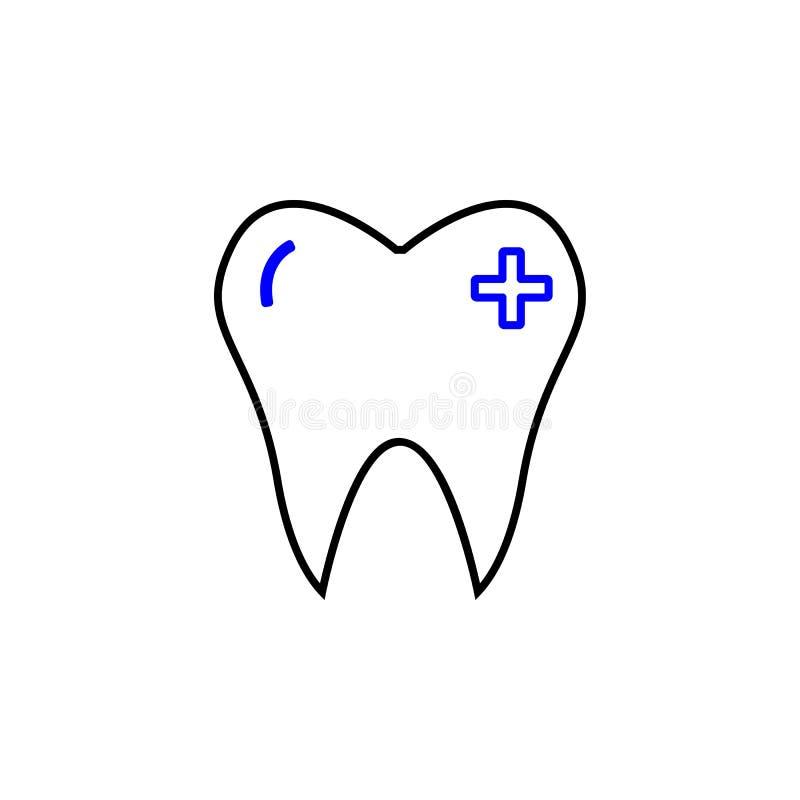 Ícone ortodôntico médico Elemento do ícone médico para apps móveis do conceito e da Web O ícone ortodôntico médico detalhado pode ilustração stock