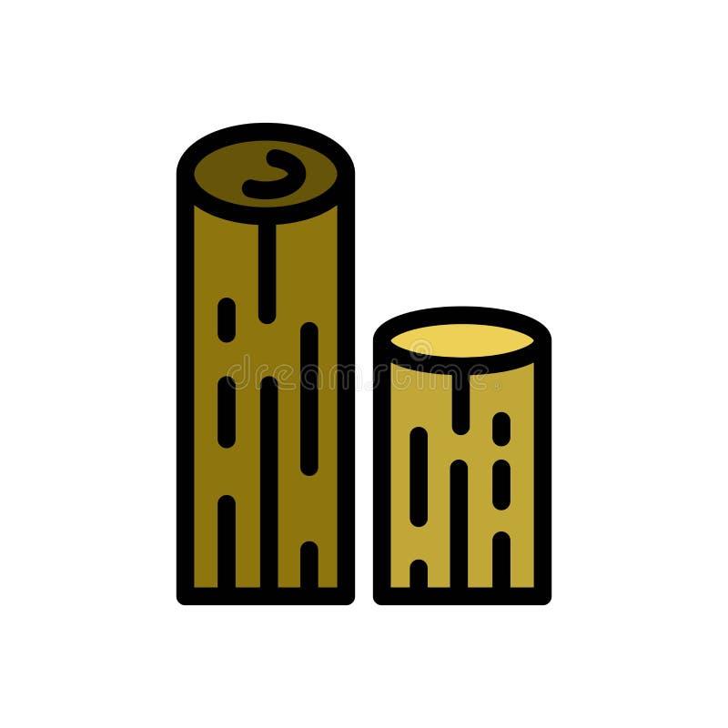 Ícone ou ilustração de madeira do logotipo do vetor do verão da madeira Curso edit?vel e cor Uso perfeito para o gr?fico do teste ilustração do vetor