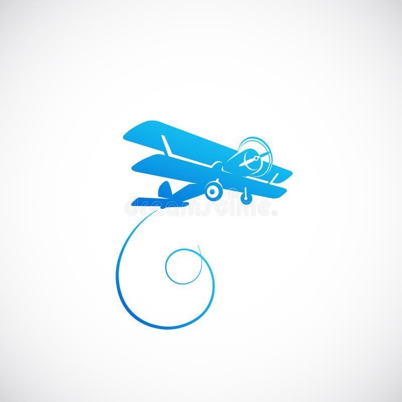 Ícone ou Logo Template de Symbolo do vetor plano do vintage ilustração royalty free