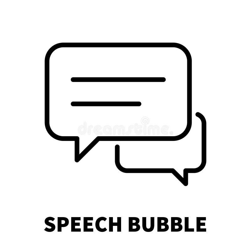 Ícone ou logotipo da bolha do discurso na linha estilo moderna ilustração do vetor