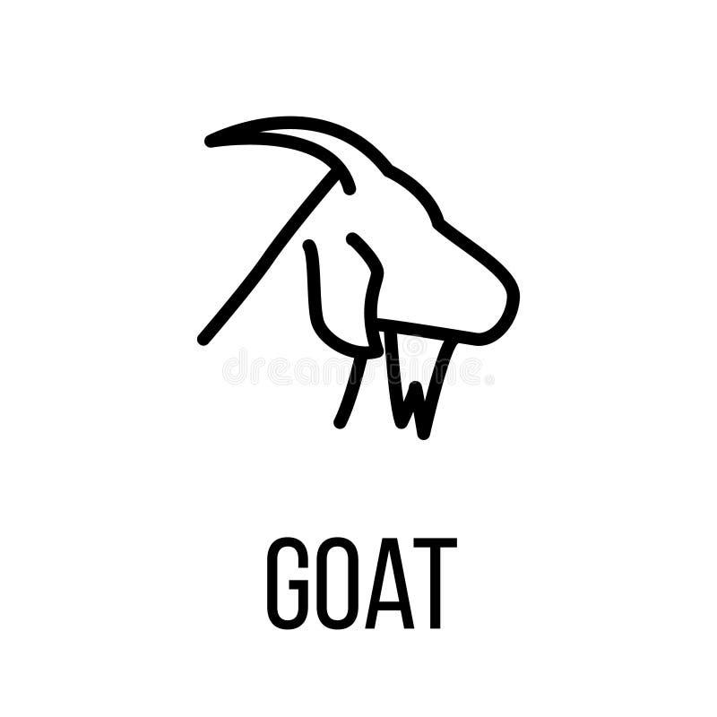 Ícone ou logotipo da cabra na linha estilo moderna ilustração do vetor