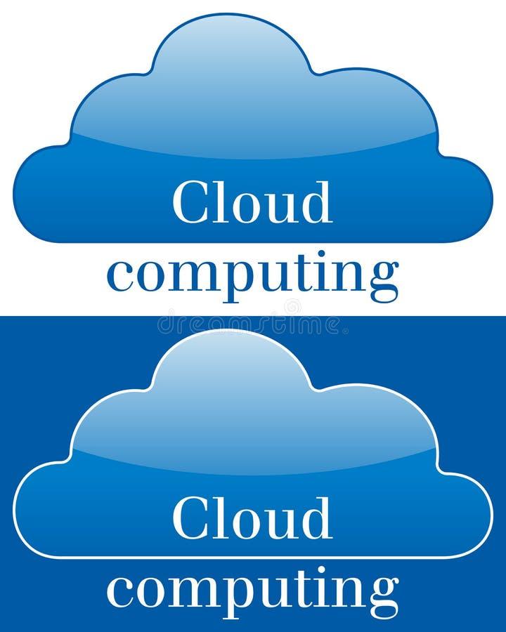 Ícone ou logotipo de computação da nuvem ilustração stock