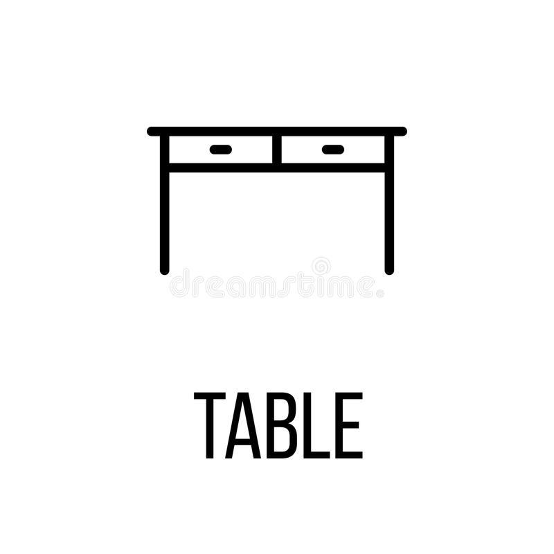Ícone ou logotipo na linha estilo moderna ilustração royalty free