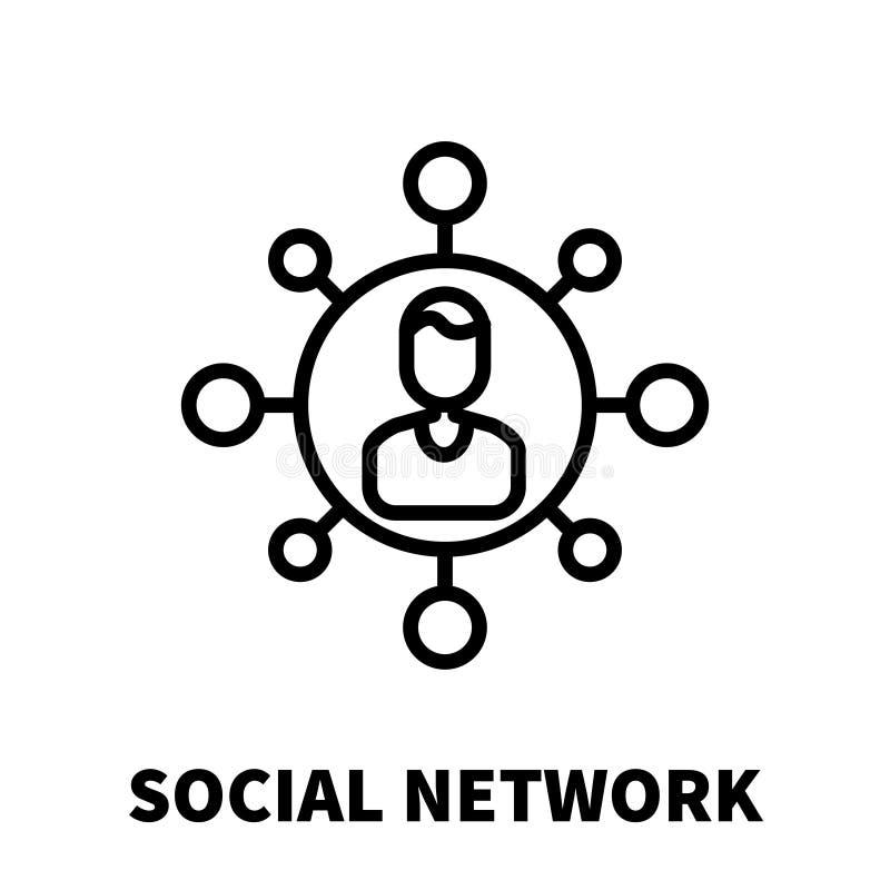 Ícone ou logotipo social da rede na linha estilo moderna ilustração do vetor