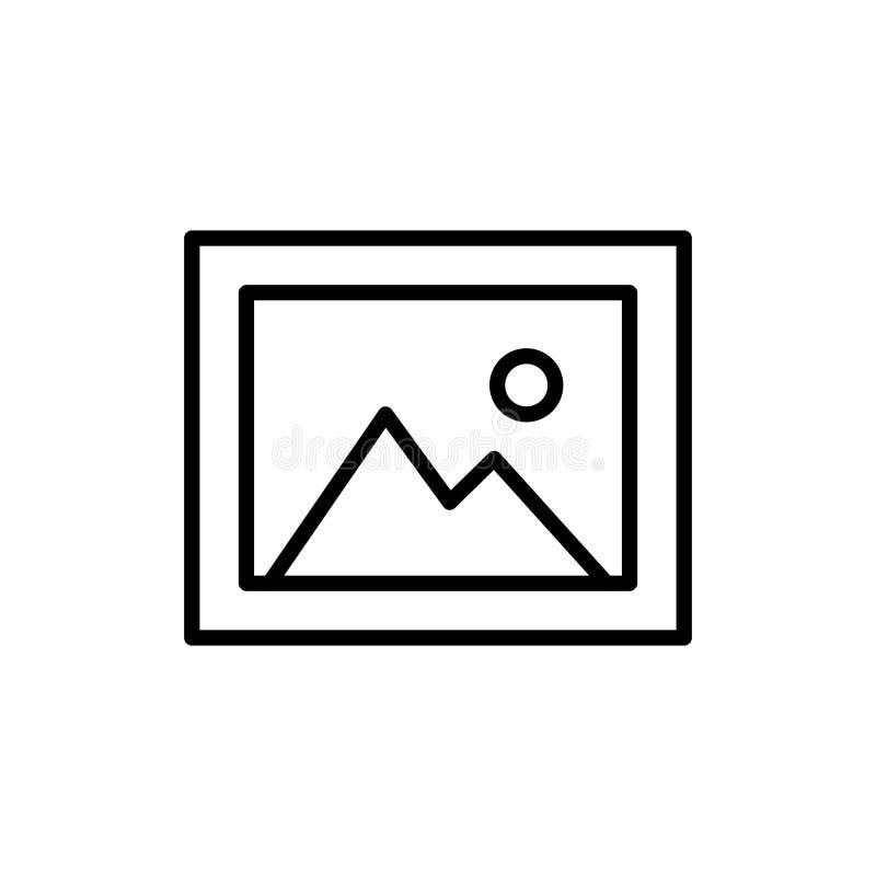 Ícone ou logotipo superior da imagem na linha estilo ilustração do vetor