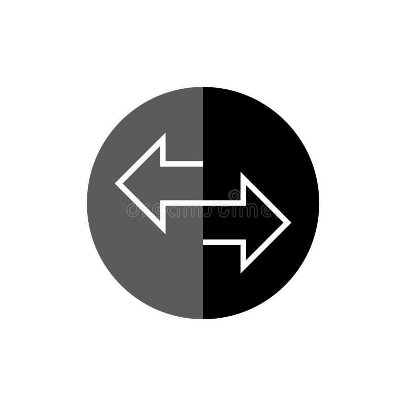 Ícone ou sinal do converso do dinheiro ilustração do vetor