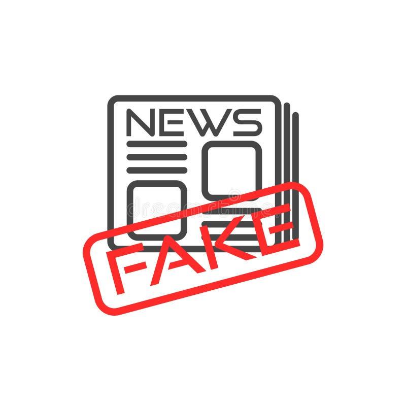 Ícone ou sinal falsificado da notícia ilustração stock