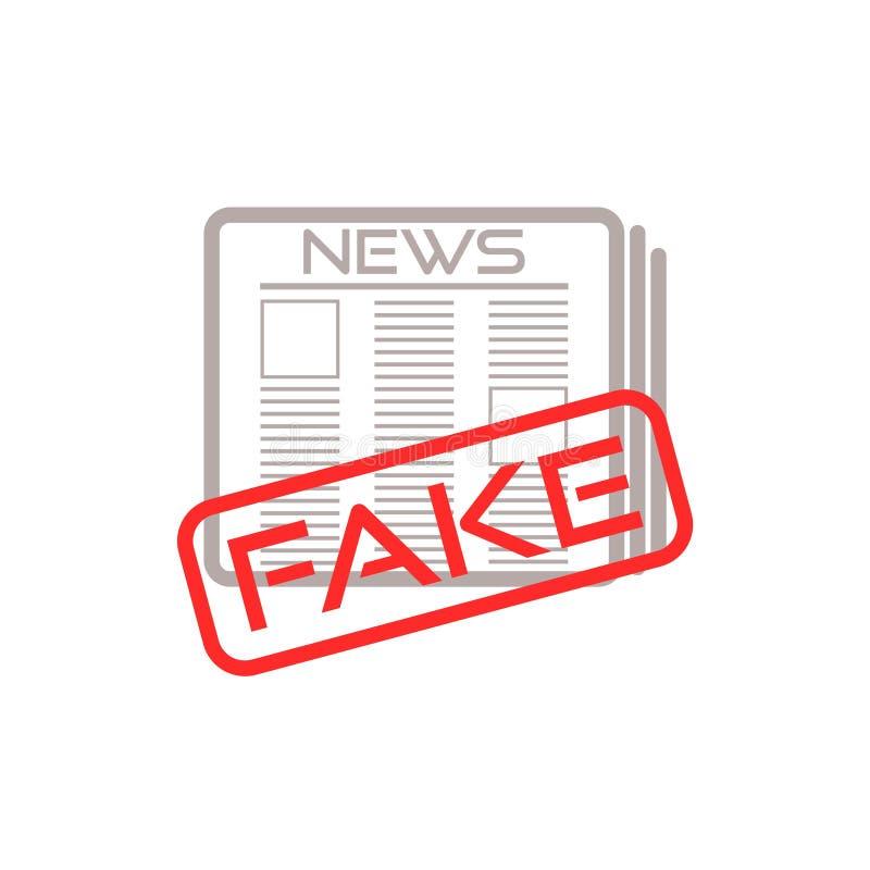 Ícone ou sinal falsificado da notícia ilustração royalty free
