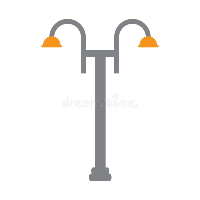 Ícone público isolado da lâmpada ilustração royalty free