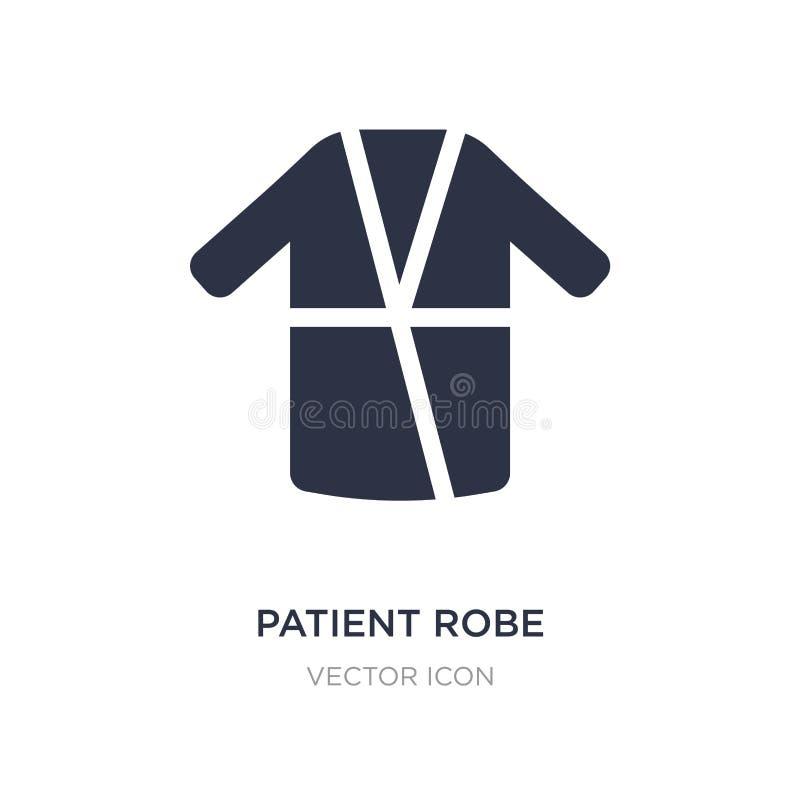 ícone paciente da veste no fundo branco Ilustração simples do elemento da saúde e do conceito médico ilustração do vetor