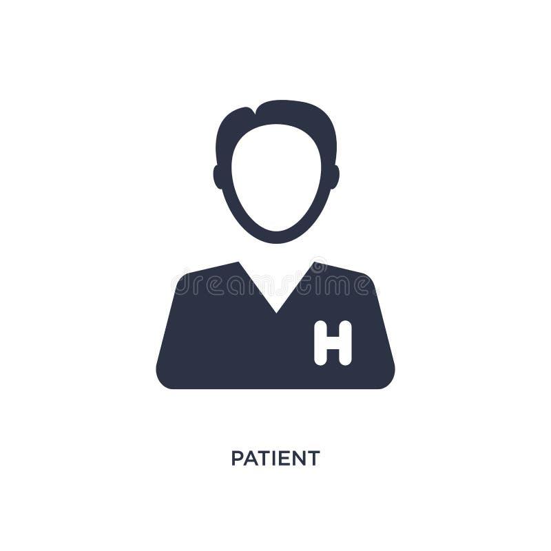 ícone paciente no fundo branco Ilustração simples do elemento do conceito médico ilustração do vetor