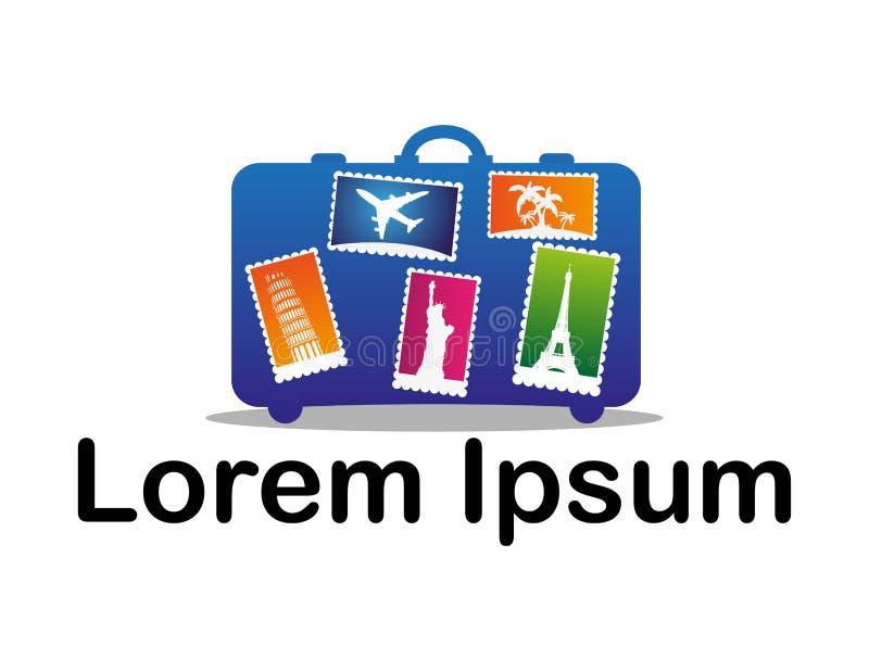 Ícone para agências do curso e do turismo ilustração do vetor