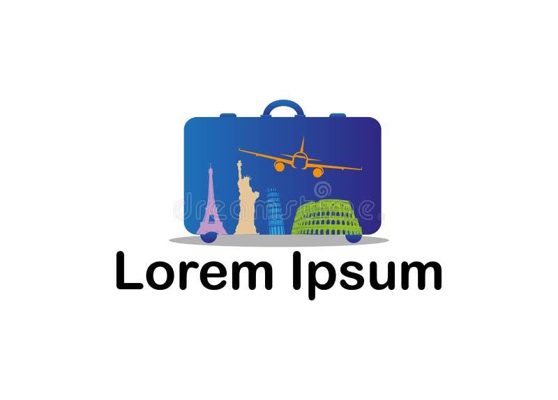 Ícone para agências do curso e do turismo ilustração stock