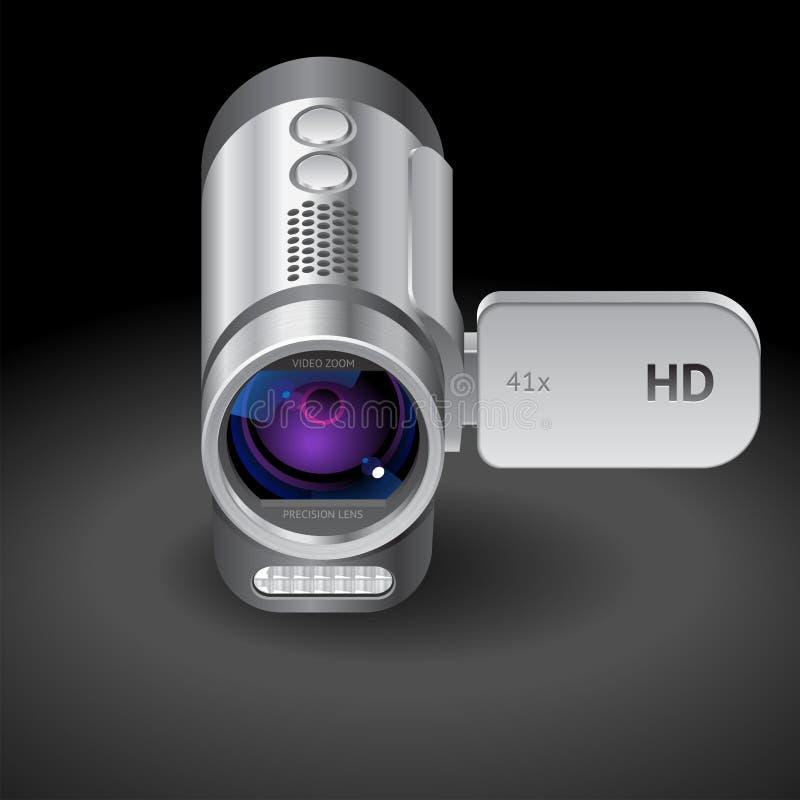 Ícone para a câmara de vídeo ilustração stock